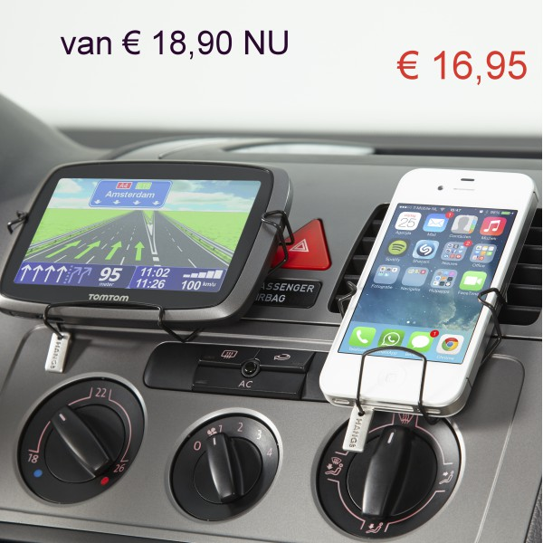 Smartphone houder type 1 en navigatiehouder